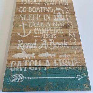 New Lake cabin wall decor rustic gift